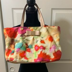 Kate Spade |Colorful | Paint splatter fabric Purse